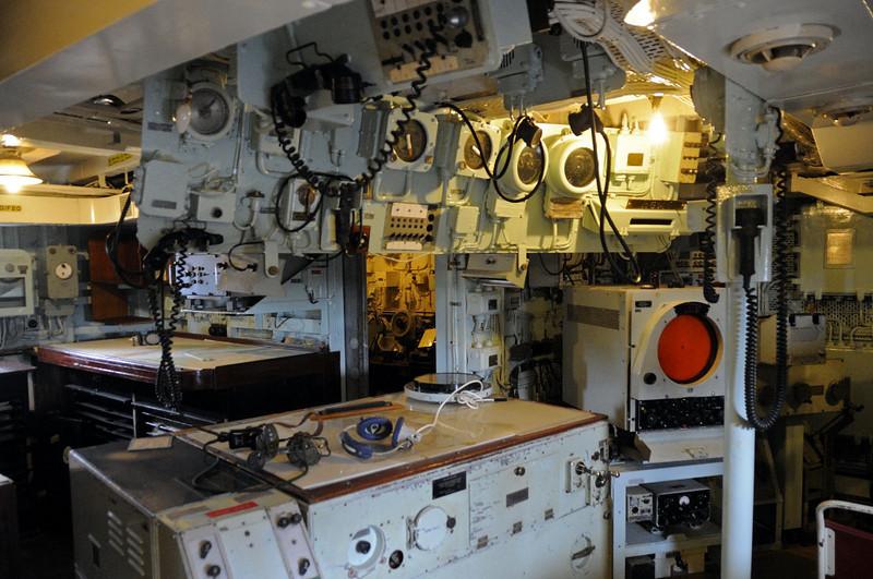 HMS Cavalier, Chatham dockyard, Sat 9 June 2012 11.  Ops room.