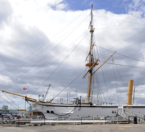 HMS Gannet, Chatham historic dockyard, Sat 9 June 2012 1.  Gannet is a sail and steam sloop built near Chatham at Sheerness in 1878.  She served in the Pacific, Red Sea and Mediterranean before decommissioning in 1895.  She survived because she became a dormitory ship for the nautical training school Mercury until it closed in 1968.  Gannet has been at Chatham since 1987, when a protracted restoration began.