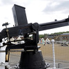 HMS Gannet, Chatham historic dockyard, Sat 9 June 2012 11.  Replica Nordenfelt machine gun.