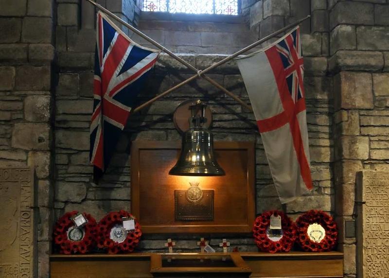 HMS Royal Oak memorial, St Magnus cathedral, Kirkwall, Orkney, 24 May 2015 1.
