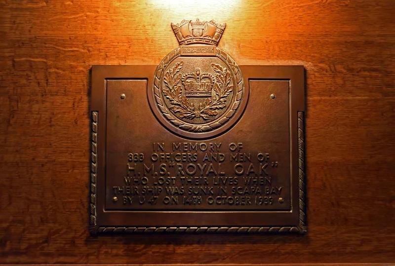 HMS Royal Oak memorial, St Magnus cathedral, Kirkwall, Orkney, 24 May 2015 2.