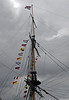 HMS Trincomalee, Hartlepool, Tues 10 August 2010 11.  The signal flags say Welcome to Trincomalee.