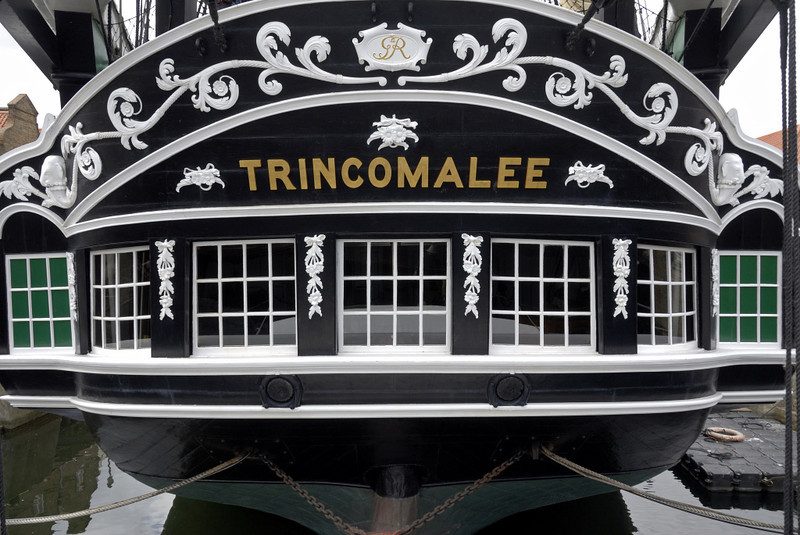 HMS Trincomalee, Hartlepool, Tues 10 August 2010 8.  Trincomalee is an anchorage on the eastern coast of Sri Lanka (Ceylon).  In 1795 Britain seized Trincamalee from the Dutch, thereby gaining complete control of the Indian Ocean and keeping it until Sri Lanka became independent in 1948.