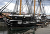 HMS Trincomalee, Hartlepool, Tues 10 August 2010 2.  Trincomalee is a frigate, with a single gun deck.  She was launched in 1817 in Bombay, arrived at Portsmouth in 1819, and was then placed in reserve without being commissioned.  Trincomalee has largely been restored to her planned original condition.