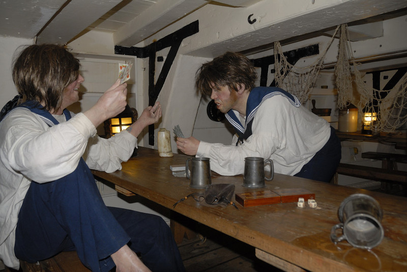 HMS Trincomalee, Hartlepool, Tues 10 August 2010 20.  Winner takes all, as usual!