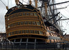 HMS Victory, Portsmouth, 6 March 2007 9. As well as Nelson, such famous admirals as Keppel, Kempenfelt, Howe, Hood and Jervis (later St Vincent) flew their flag in Victory.  The wooden balustrades conceal gunports.  The drydock in which Victory is preserved dates from 1801.