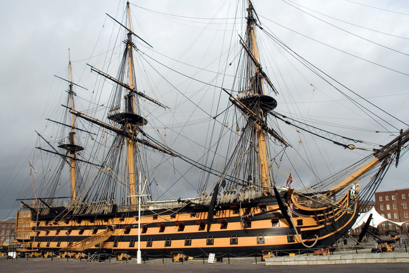 HMS Victory, Portsmouth, 6 March 2007 3.  Victory was built at Chatham, completing in 1765, 40 years before the battle of Trafalgar.