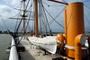 Upper deck looking aft from midships, HMS Warrior, Portsmouth, 5 March 2007.
