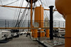 Upper deck looking forward from midships, HMS Warrior, Portsmouth, 5 March 2007.