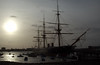Sunset, HMS Warrior, Portsmouth, 5 March 2007