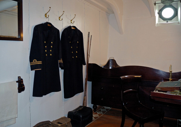 Officer's cabin, HMS Warrior, Portsmouth, 5 March 2007