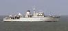 HMS Ledbury, Holyhead, Sat 24 March 2007.  Hunt class mine-countermeasures vessel, still in service in 2016.