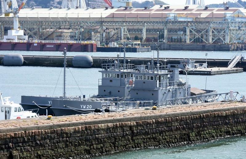 JMSDF YW20, Kure. 1 April 2019.