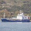 The  2006 built 1723 GT product tanker 'Apiliotis' seems to spend most of her time sailing between the Greek Islands.Seen here berthed in the island of Syros on 20th April 2017..