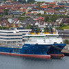 Offshore vessels STRIL MERMAID & STRIL COMMANDER tied up in Stavanger on 15th August 2017. Norway flagged - built 2010/2008 and 3129/2807 GT
