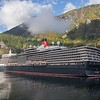 Cunard's QE berthed in Flaam, Norway on 16th August 2017.