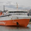 Another Japanuse Ferry that found a new life in Greece!  'Adamantios Korais' is seen  berthed in Piraeus on 21st April 2017  Originally the 'Visva' of 1987 (Higashi Nihon Ferry), she was sold into Greek afterlife in 2007 where she operates between Piraeus - Kithnos - Serifos - Sifnos - Milos - Kimolos - Folegandros - Sikinos - Ios - Santorini..