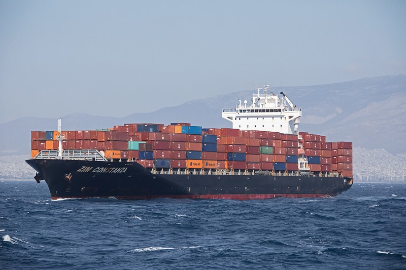 The 40,542 GT container vessel 'Zim Constanza' has arrived off the port of Piraeus on 19th April 2017.  Built in 2010 and flagged in Israel, she is awaiting clearence to proceed to a berth in the container port.