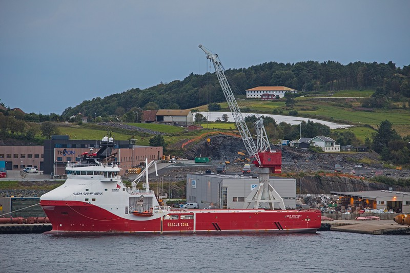 Offshore supply vessel SIEM SYMPHONY berthed in Stavanger on 15th August 2017. Flagged in Norway, she has a GT of 4768 and was built in 2014.
