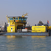 Oil Spill Response vessel HEBO-Cat 5, underway within Rotterdam Euro-port on 15th September 2016.
