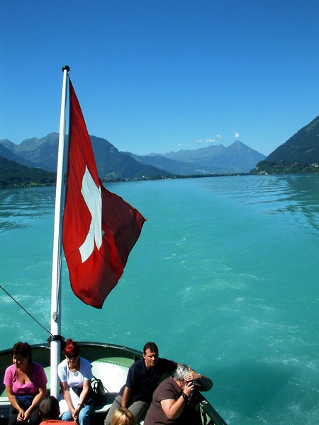 Looking aft (west) along Lake Brienz