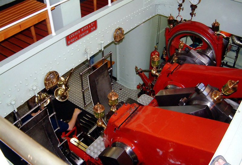 Engine No 2054, built by Escher Wyss of Zurich in 1914 for paddle steamer Lotschberg