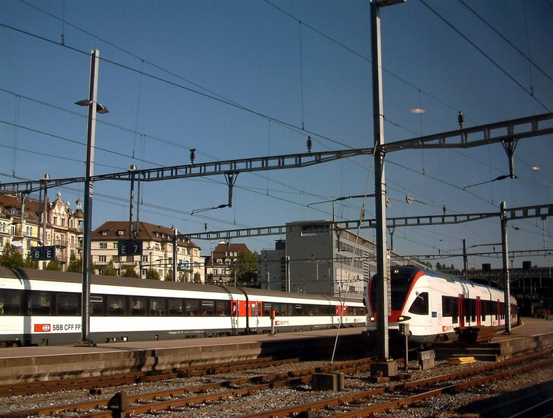 Leaving Luzern by train to travel over the spectacular Brunig Pass railway to Interlaken