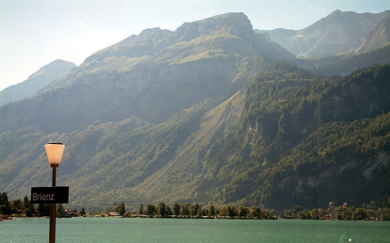 Passing through Brienz station - we would return by paddle steamer