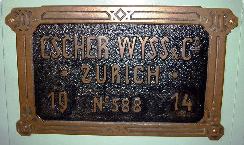 Lotschberg's builder's plate