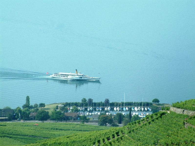 Paddle steamer Simplon on Lake Leman - the lake of Geneva