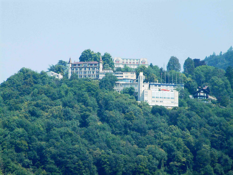 Mountain resorts above Montreux on the Swiss Riviera