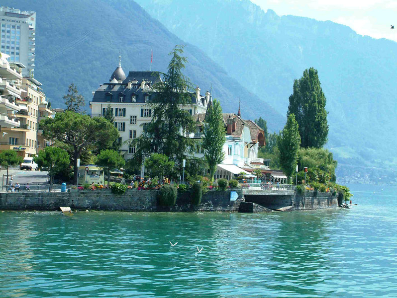 Montreux - Jewel of the Swiss Riviera - from paddle steamer La Suisse