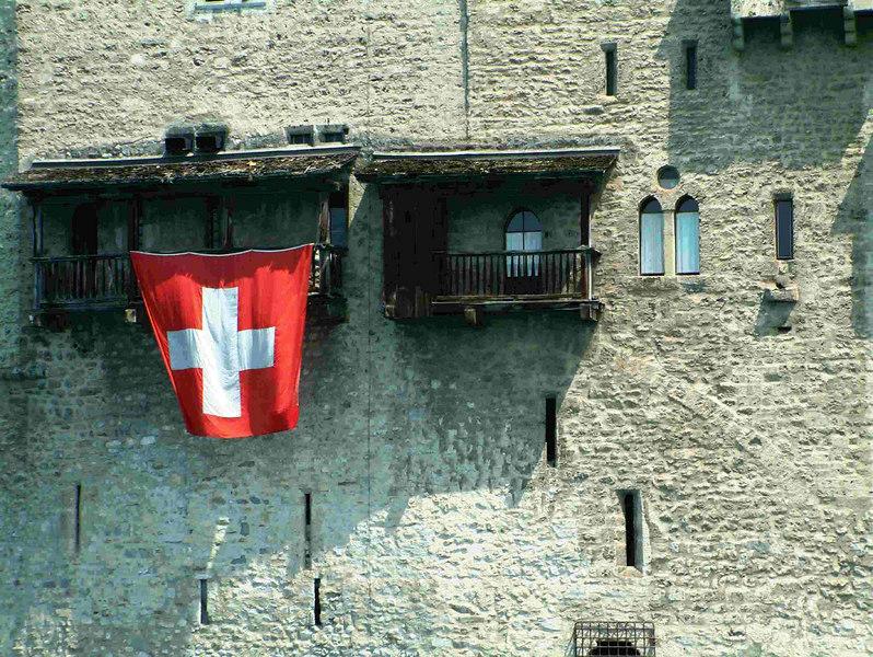 The Chateau de Chillon from paddle steamer La Suisse