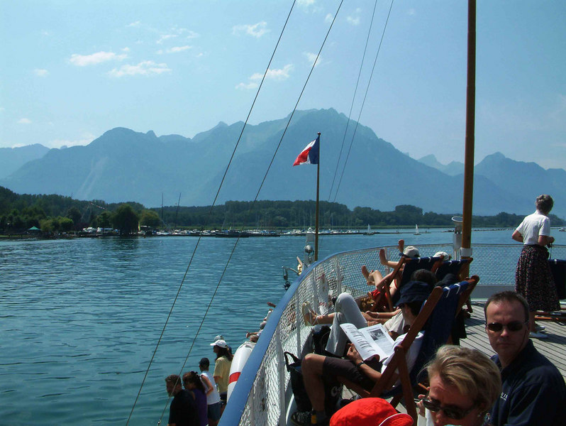 Sailing from Villeneuve at the easter end of Lake Leman on paddle steamer La Suisse
