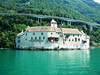 The Chateau de Chillon from paddle steamer La Suisse