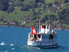 Veteran motor vessel Spiez on Lake Thun