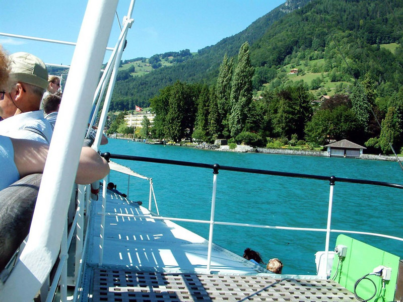 Views of Lake Thun from paddle steamer Blumlisalp