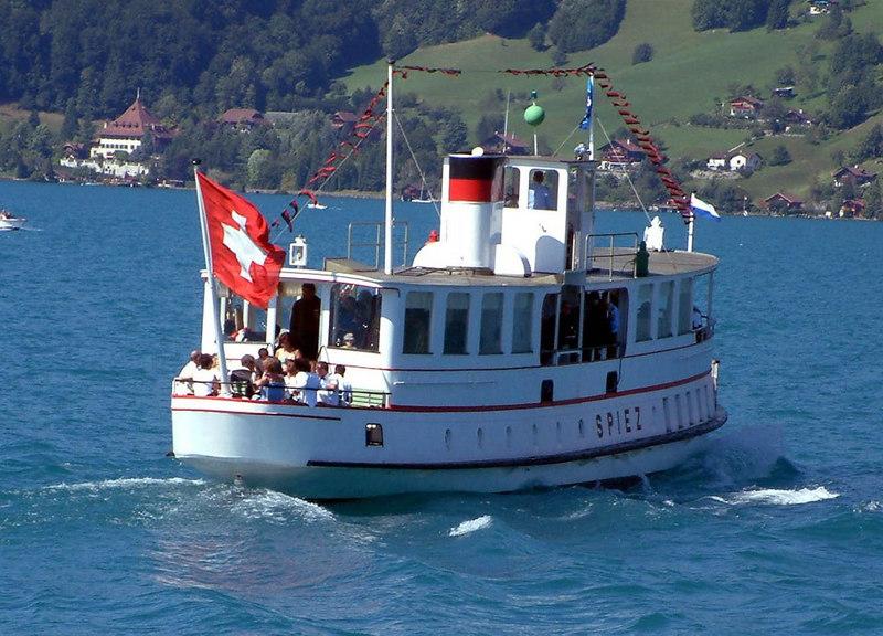 Veteran motor vessel Spiez on Lake Thun