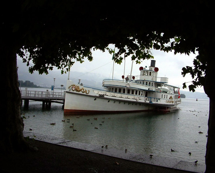 Paddle steamer Stadt Rapperswil at Rapperswil