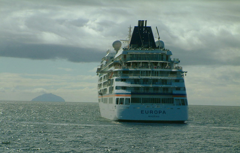 Europa off Ayr with Ailsa Craig in the background