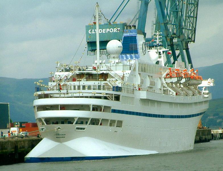Athena (ex Stockholm) at Greenock Ocean Terminal