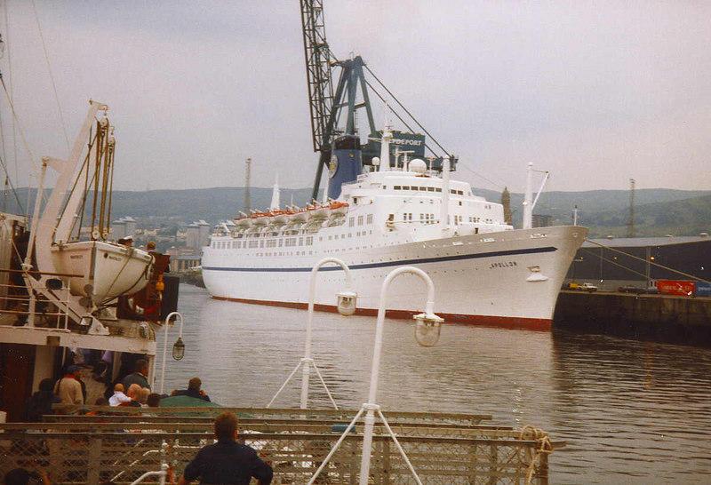 Apollon (ex Empress of Canada) at Greenock Ocean Terminal