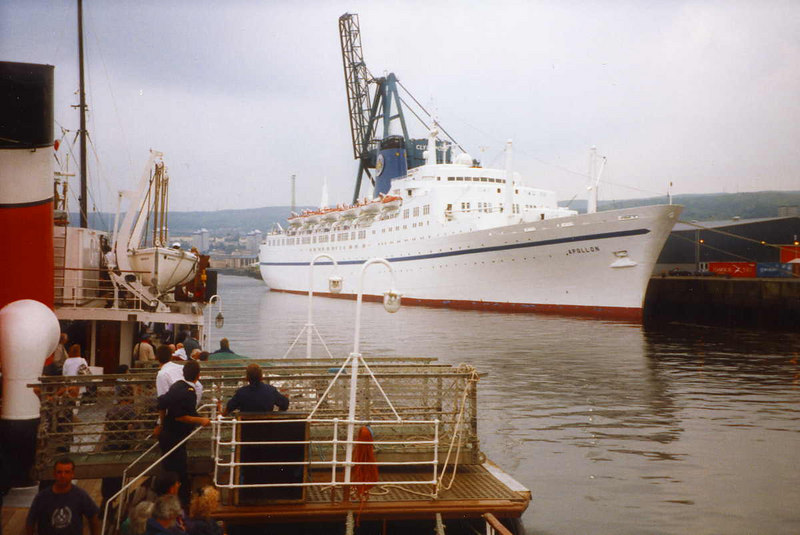 Apollon (ex Empress of Canada) at Greenock Ocean Terminal