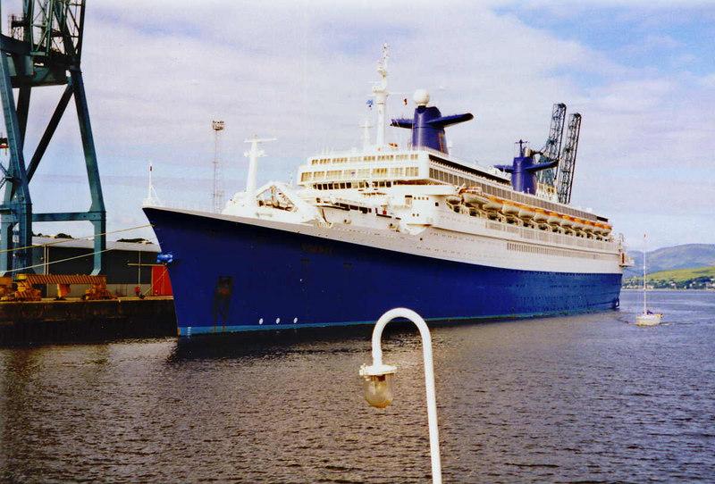SS Norway (ex France) at Greenock Ocean Terminal