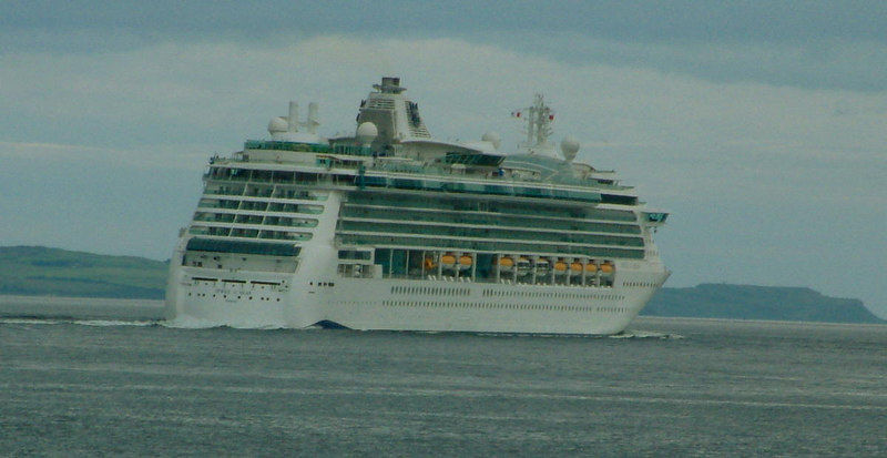 Jewel of the Seas passing down the Firth of Clyde