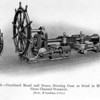 A more 'modern'  Bow McLachlan set of steam steering gear manufactured for a fast cross channel turbine steamer.<br /> <br /> Source: 'A Manual of Marine Engineering' (17th Edition, 1913) A E Seaton, Formerly lecturer in Marine Engineering, Royal Naval College, Greenwich.