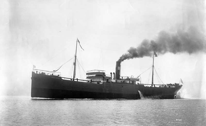 "ss SPYROS VALLIANOS<br /> Yard No 483<br /> Triple expansion steam engines by David Rowan & Co, Glasgow<br /> Launched: Thursday, 08/05/1902 for Micheal S Vagliano, Cephalonia <br /> Career: <a href=""http://www.clydesite.co.uk/clydebuilt/viewship.asp?id=17829"">http://www.clydesite.co.uk/clydebuilt/viewship.asp?id=17829</a>"