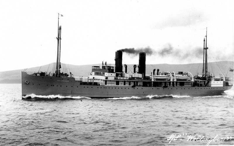 "ss WOLLONGBAR<br /> Yard No 746<br /> Triple expansion steam engines<br /> Launched: Monday, 28/08/1922 for North Coast Steam Navigation Company, Sydney NSW<br /> Career: <br /> <a href=""http://www.clydesite.co.uk/clydebuilt/viewship.asp?id=18070"">http://www.clydesite.co.uk/clydebuilt/viewship.asp?id=18070</a><br /> and<br /> <a href=""http://www.australiansatwar.com.au/stories/stories.asp?war=W2&id=190"">http://www.australiansatwar.com.au/stories/stories.asp?war=W2&id=190</a> <br /> Seen here running trials on the Clyde prior to departing for Australia."