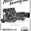 "John Hastie founded the Kilblain Engine Works in 1845 and for many years thereafter the firm traded as general engineers but, eventually, specialised in steam and hydraulic steering gear for ships. The Kilblain works were closed around 1990 and the site has subsequently been redeveloped. This advert shows an example of the type of gear that Hastie's were manufacturing around the time that PLUME was built by Lithgow's.<br /> <br /> Pictures of the Kilblain Engine Works can be seen at the following SCRAN link:<br /> <br /> <a href=""http://www.scran.ac.uk/database/results.php?query1=Hastie&bool1=AND&query2=Kilblain&bool2=AND&query3=&FULL=1&contributorid=&_IXSPFX_=z&sortby=title&sortorder=ASC&mediatype"">http://www.scran.ac.uk/database/results.php?query1=Hastie&bool1=AND&query2=Kilblain&bool2=AND&query3=&FULL=1&contributorid=&_IXSPFX_=z&sortby=title&sortorder=ASC&mediatype</a>="