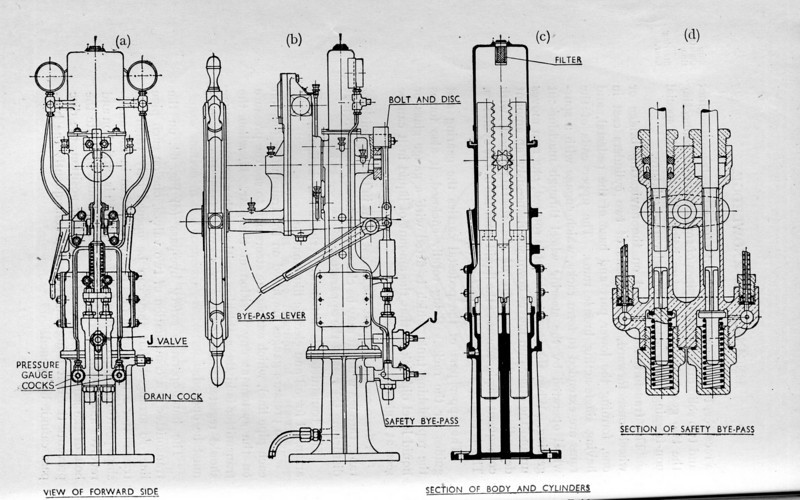 "Various views of the traditional steering system bridge transmitter supplied by MacTaggart, Scott & Co. Follow this link to a picture of a 1923 MacTaggart Scott & Co Model T One Ton delivery truck:<br /> <br /> <a href=""http://www.flickr.com/photos/westlothian/2006774306/sizes/o/"">http://www.flickr.com/photos/westlothian/2006774306/sizes/o/</a><br /> <br /> MacTaggart Scott & Company have been awarded the contract to build the aircraft lifts for the two new Royal Navy aircraft carriers HMS Queen Elizabeth and HMS Prince of Wales which will be commissioned in 2014-2016. This gives the company a good forward workload well into its second century.<br /> <br /> In the 21st Century MacTaggart, Scott & Co's logo retains a ship's steering wheel at its core, their current activities can be reviewed at:<br /> <br /> <a href=""http://www.mactag.com/index.html"">http://www.mactag.com/index.html</a>.<br /> <br /> A subsidiary company, MacScott Bond Ltd, based in Aberdeen offers specialist hydraulic systems services to the offshore industry based on the firm's long experience in the field originating from its ship's steering gear knowledge.<br /> <br /> <a href=""http://www.macscott-online.com/aberdeen/defaultns.htm"">http://www.macscott-online.com/aberdeen/defaultns.htm</a><br /> <br /> Source: 'MacGibbon's M.O.T. Orals and Marine Engineering Knowledge (Steam & Motor)'(11th Edition) Hugh Barr, Principal, MacGibbon's School of Marine Engineering, Glasgow"